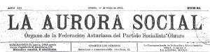 """Cabecera de """"La Aurora Social"""", 11 de mayo de 1901"""
