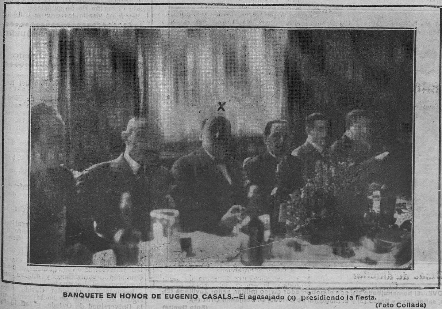 """Benigno Arango junto a Eugenio Casals en """"Región"""", 12 de febrero de 1924."""