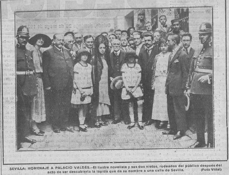homenaje en Sevilla a Armando Palacio Valdes recorte 1924 region