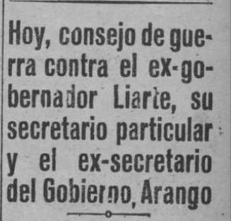 recorte Región 1936 diciembre 5 consejo de guerra