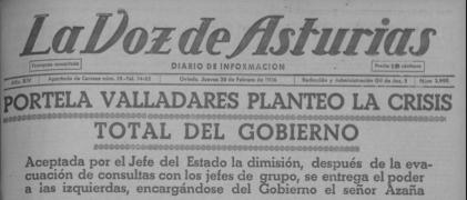 titular la voz de asturias 1936 febrero 20